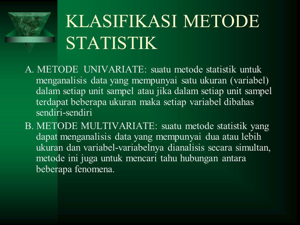 KLASIFIKASI METODE STATISTIK