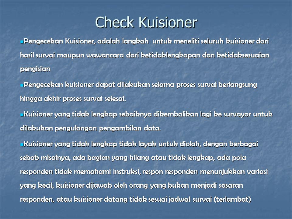 Check Kuisioner