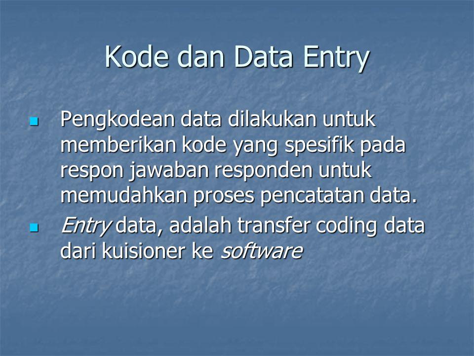 Kode dan Data Entry