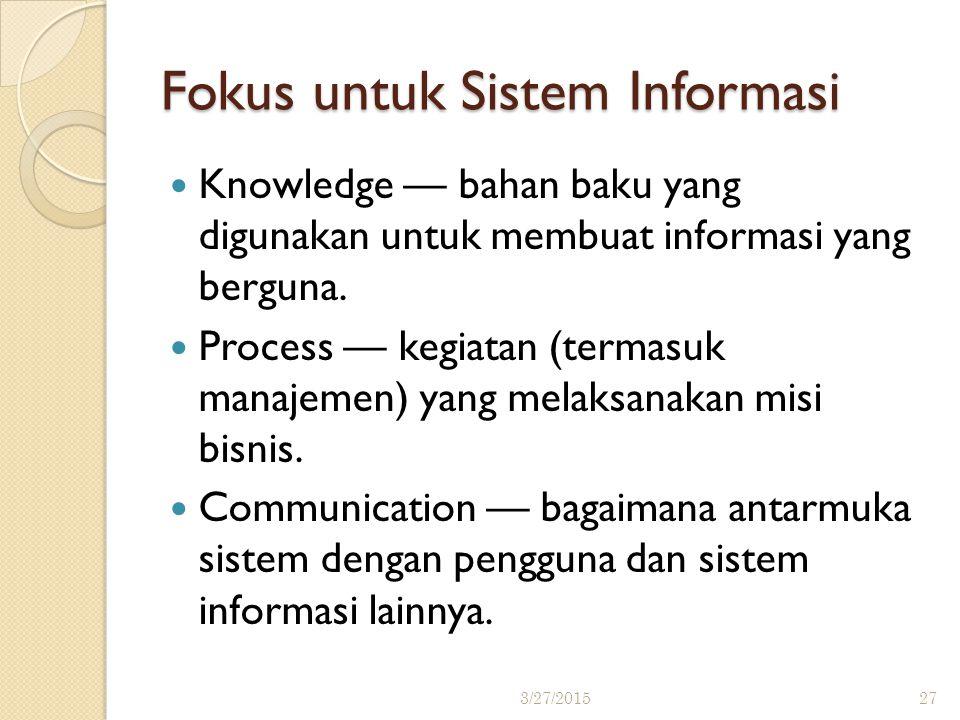Fokus untuk Sistem Informasi