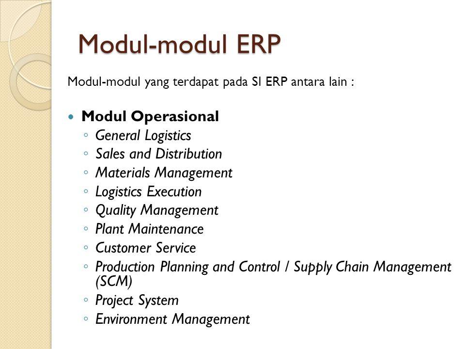 Modul-modul ERP Modul Operasional General Logistics