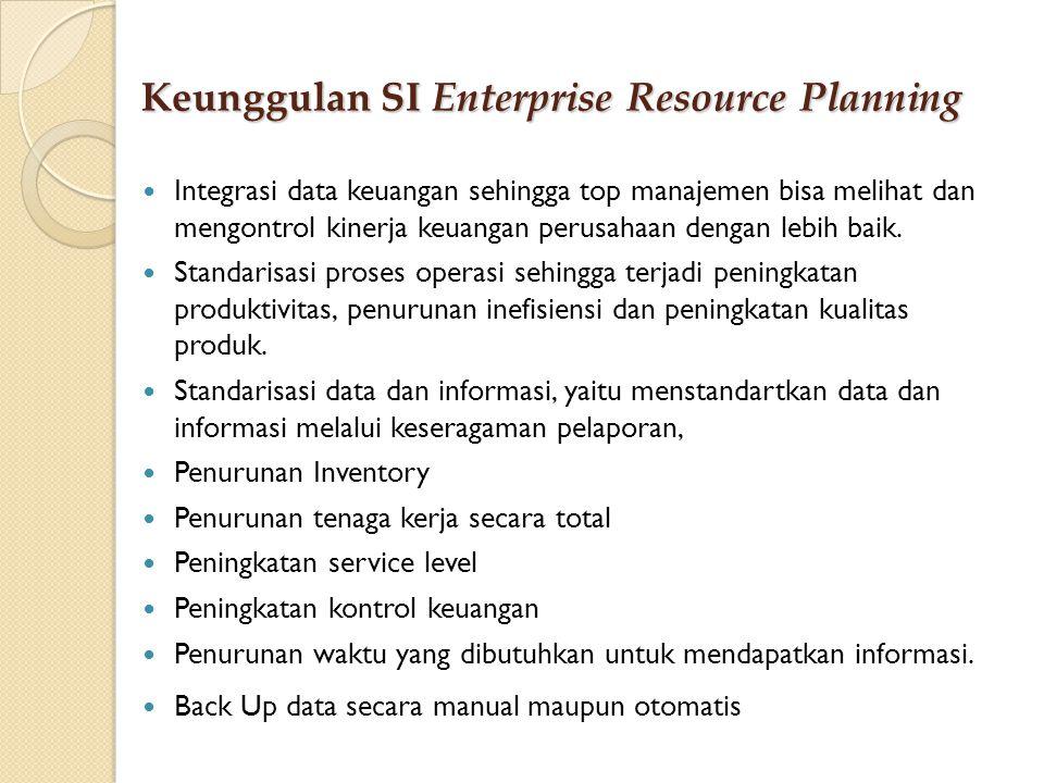 Keunggulan SI Enterprise Resource Planning