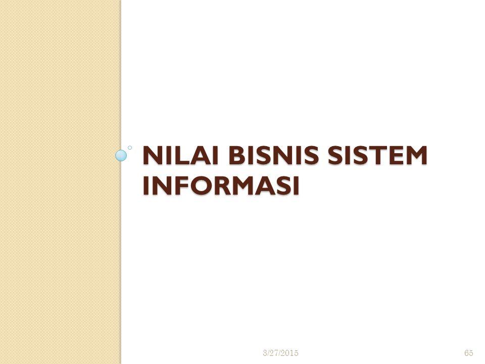 NILAI BISNIS SISTEM INFORMASI