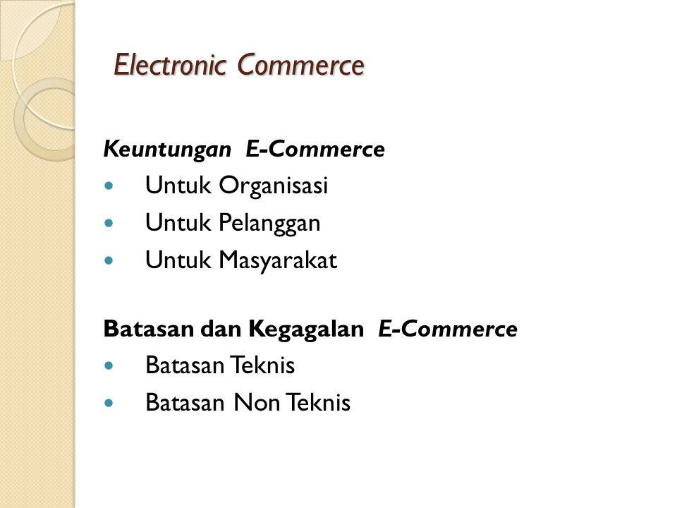 Electronic Commerce Untuk Organisasi Untuk Pelanggan Untuk Masyarakat