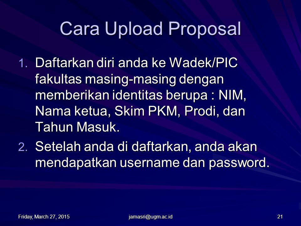 Cara Upload Proposal