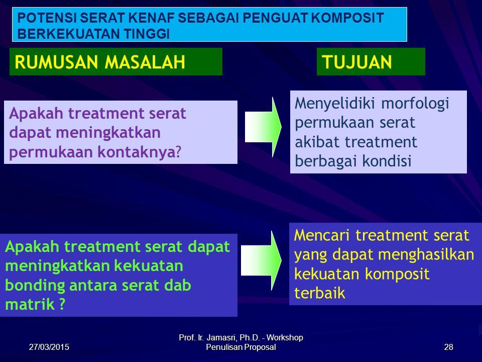 Prof. Ir. Jamasri, Ph.D. - Workshop Penulisan Proposal