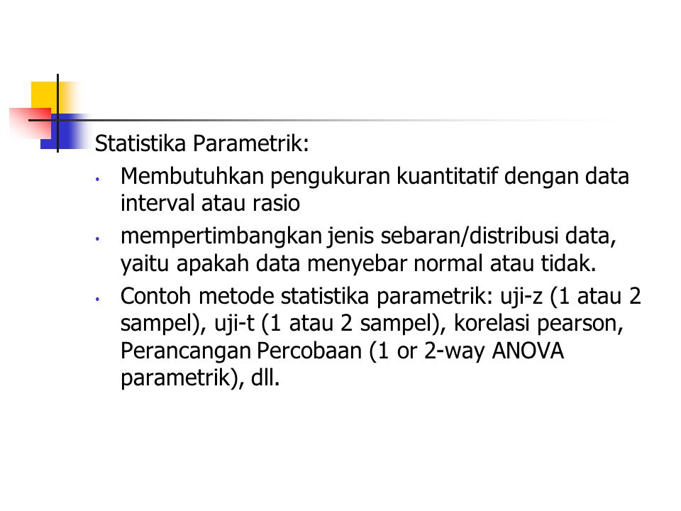 Statistika Parametrik: