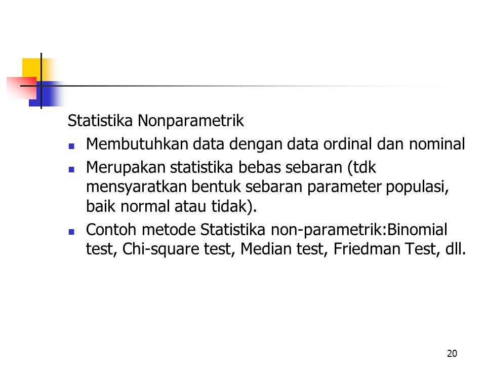 Statistika Nonparametrik
