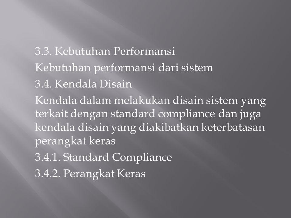 3.3. Kebutuhan Performansi