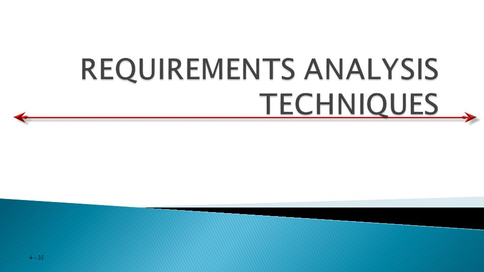 REQUIREMENTS ANALYSIS TECHNIQUES