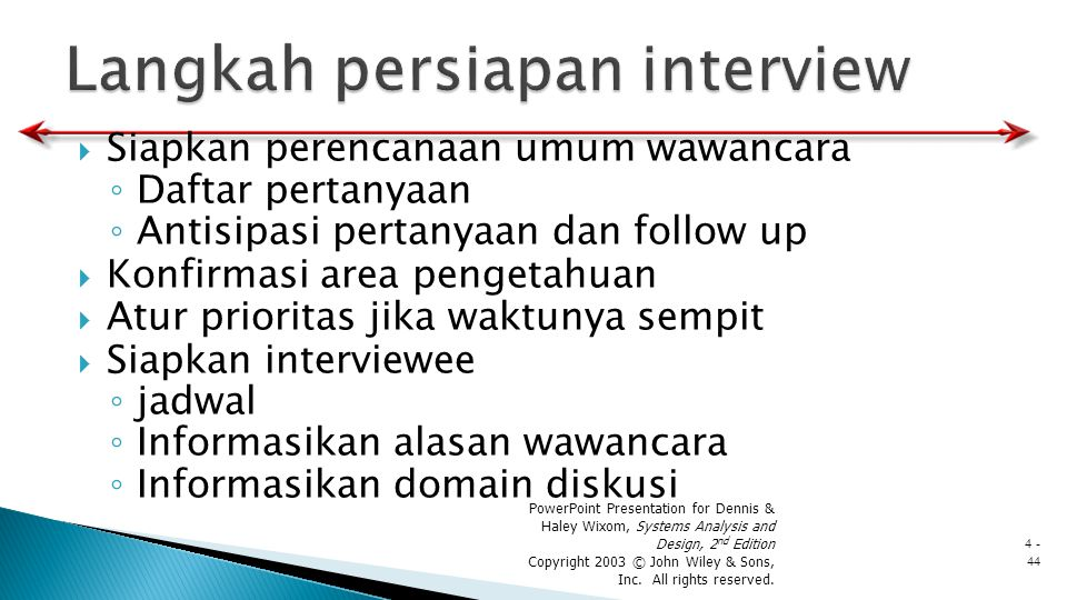 Langkah persiapan interview