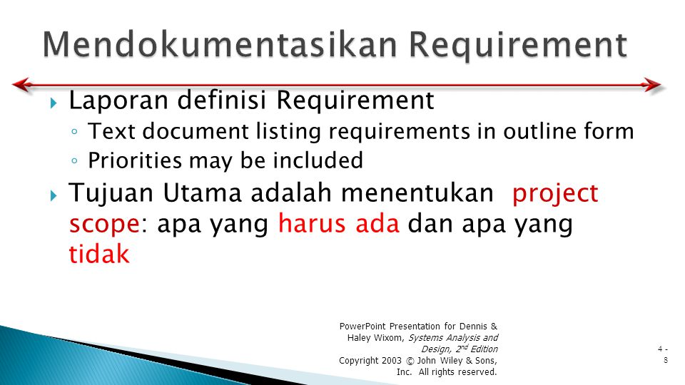 Mendokumentasikan Requirement