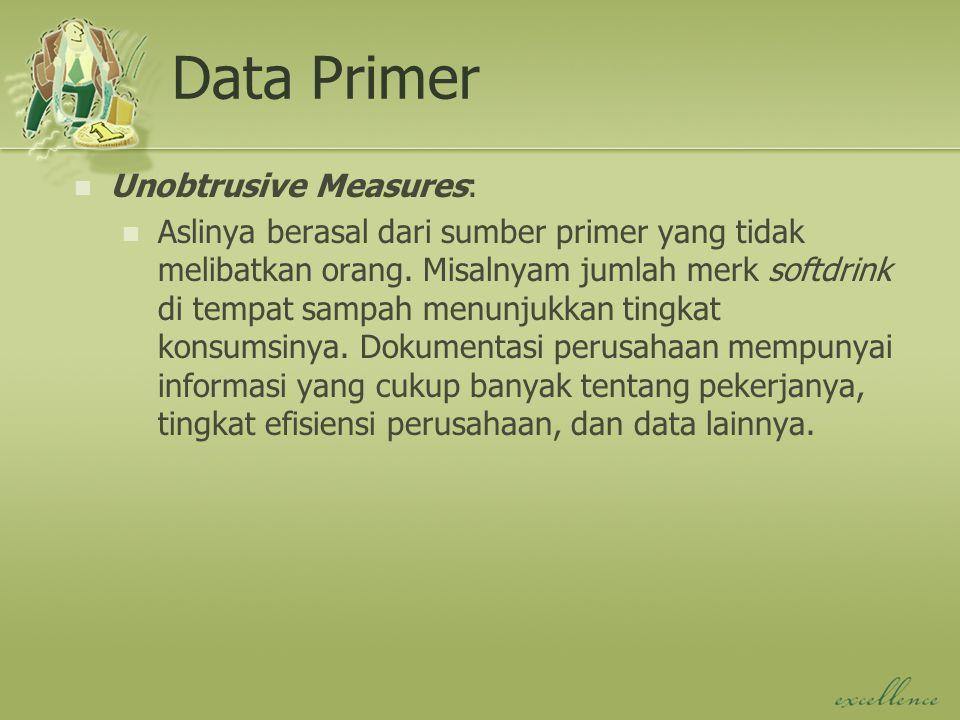 Data Primer Unobtrusive Measures: