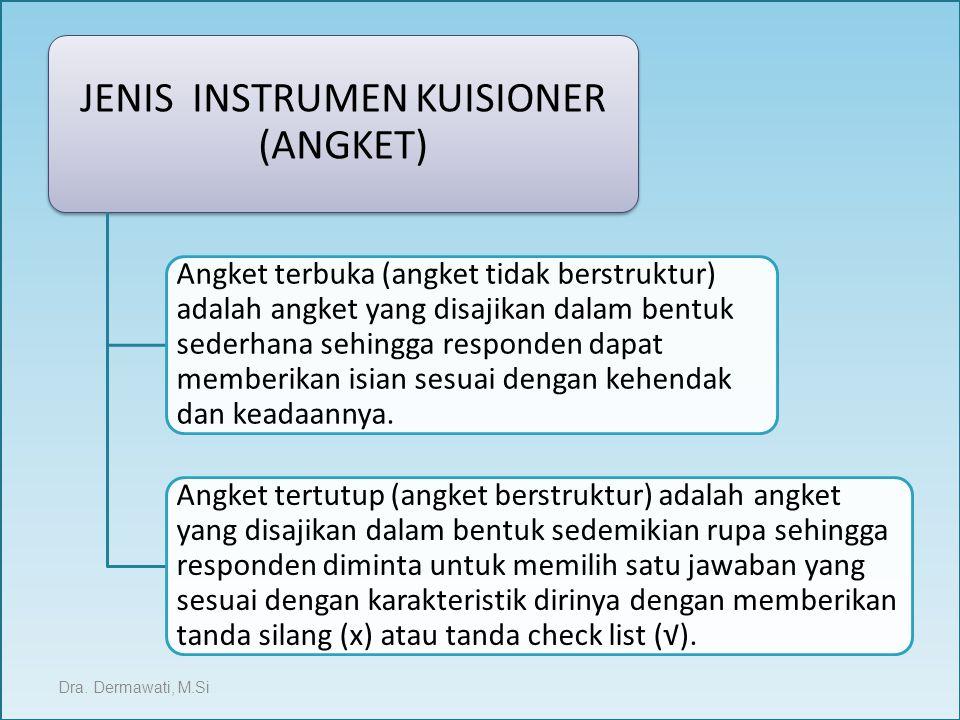 JENIS INSTRUMEN KUISIONER (ANGKET)