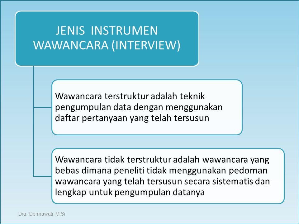 JENIS INSTRUMEN WAWANCARA (INTERVIEW)