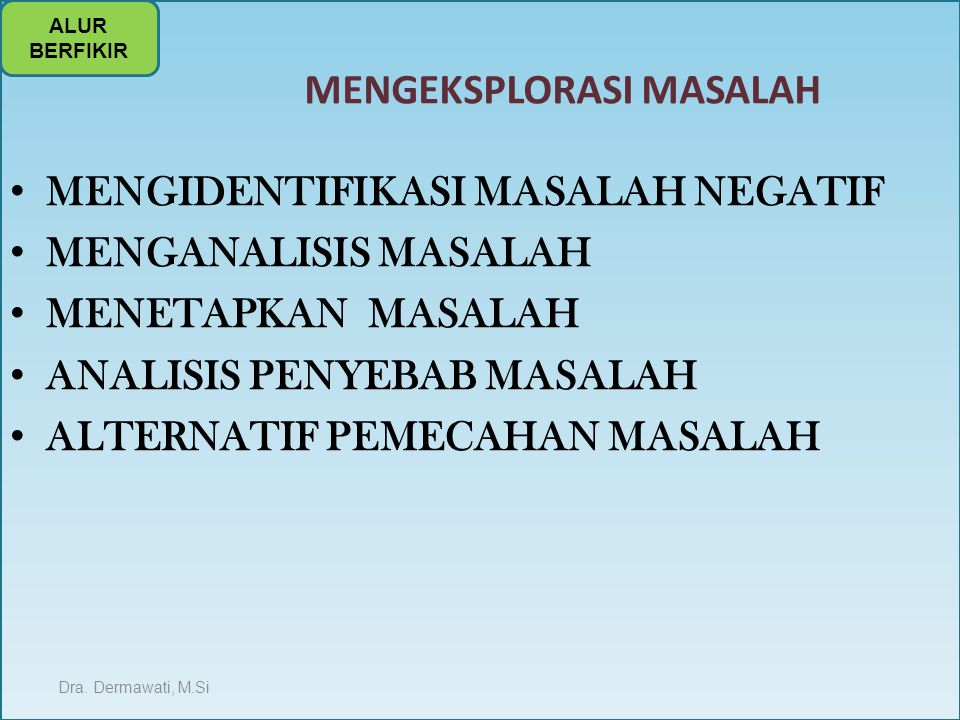 MENGEKSPLORASI MASALAH