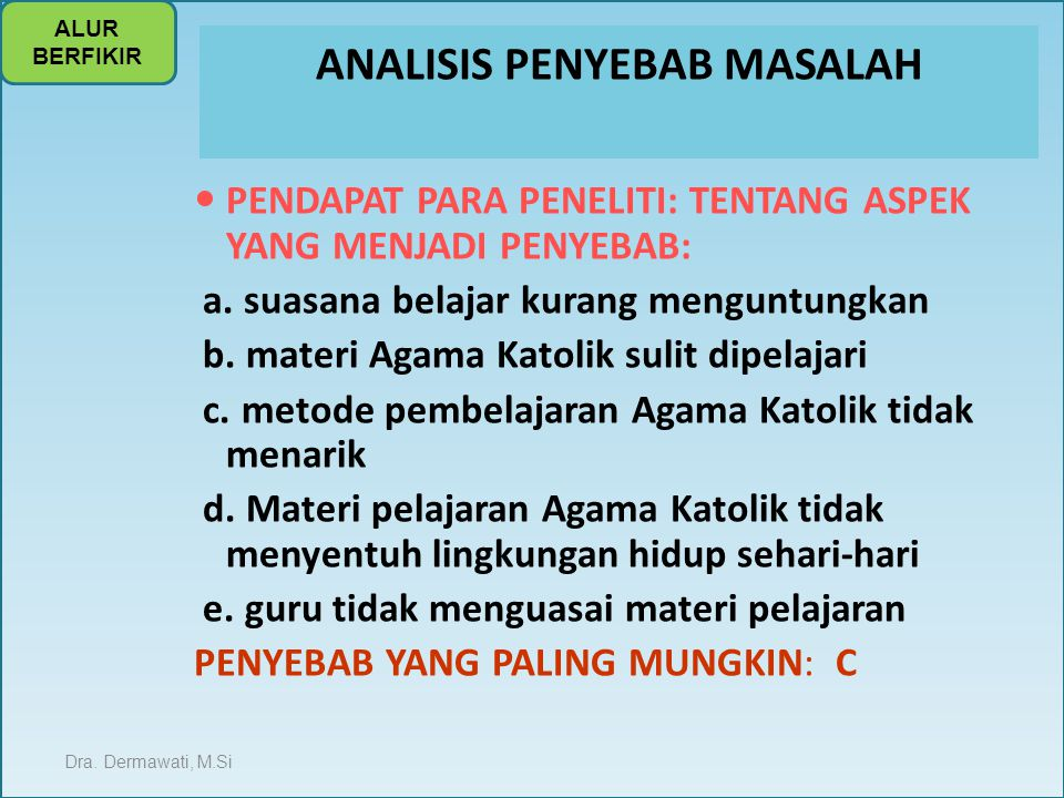 ANALISIS PENYEBAB MASALAH