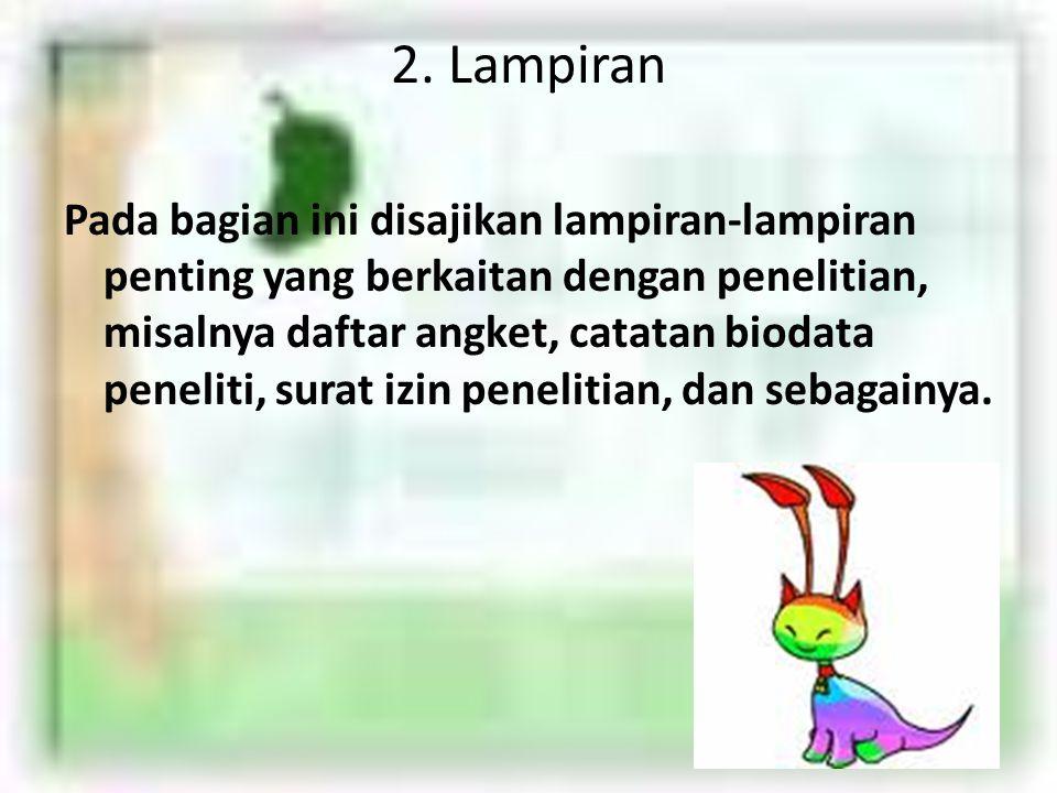 2. Lampiran