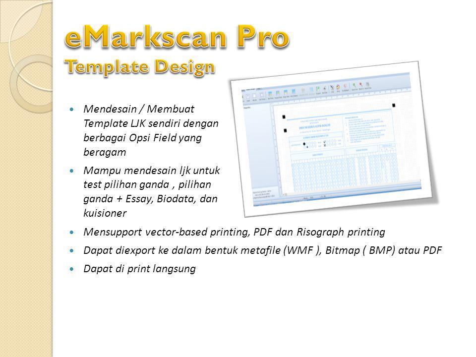 eMarkscan Pro Template Design