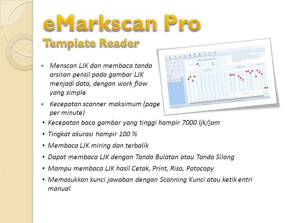 eMarkscan Pro Template Reader