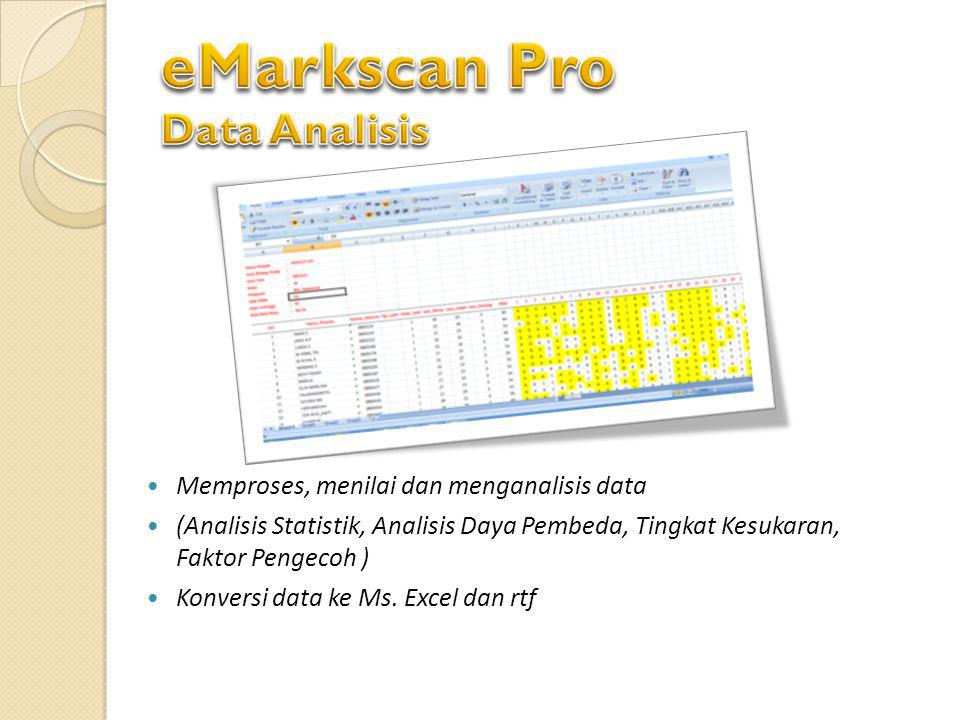 eMarkscan Pro Data Analisis