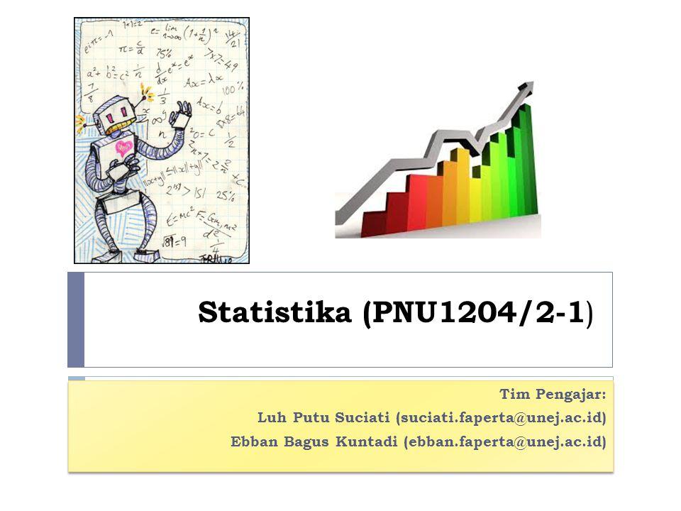Statistika (PNU1204/2-1) Tim Pengajar: