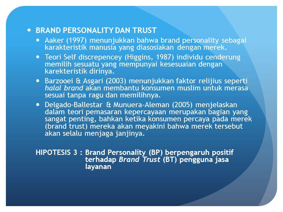 BRAND PERSONALITY DAN TRUST