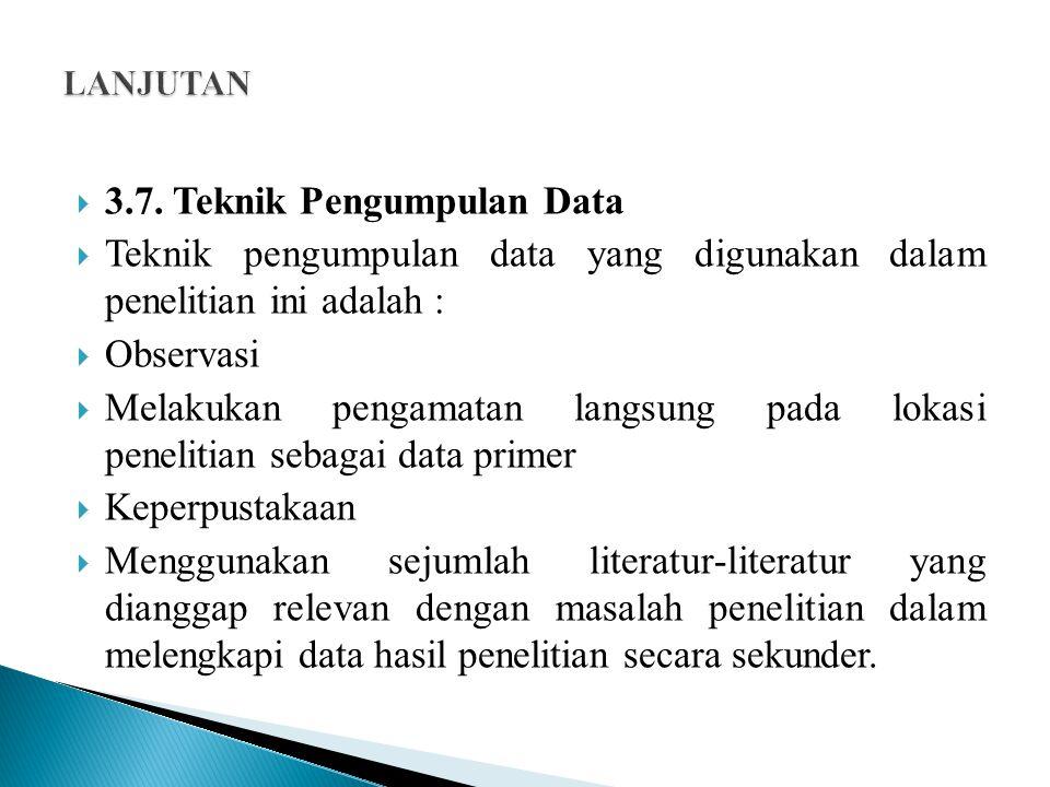 3.7. Teknik Pengumpulan Data