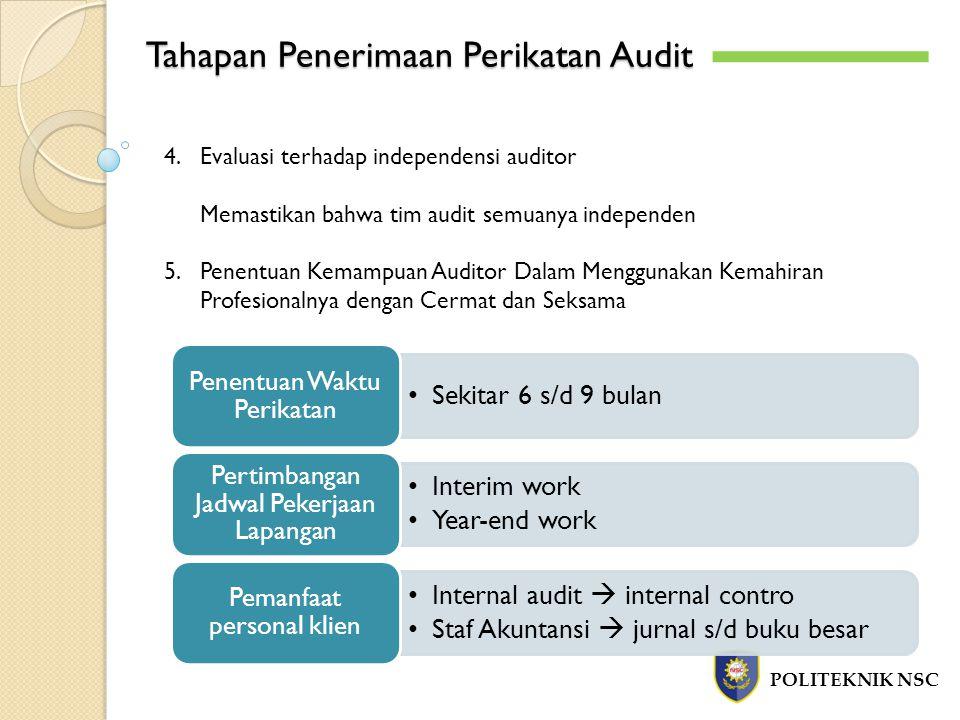 Tahapan Penerimaan Perikatan Audit