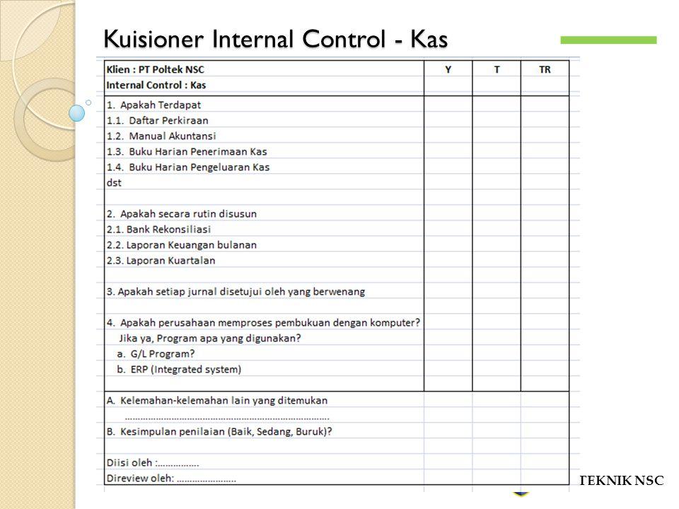 Kuisioner Internal Control - Kas