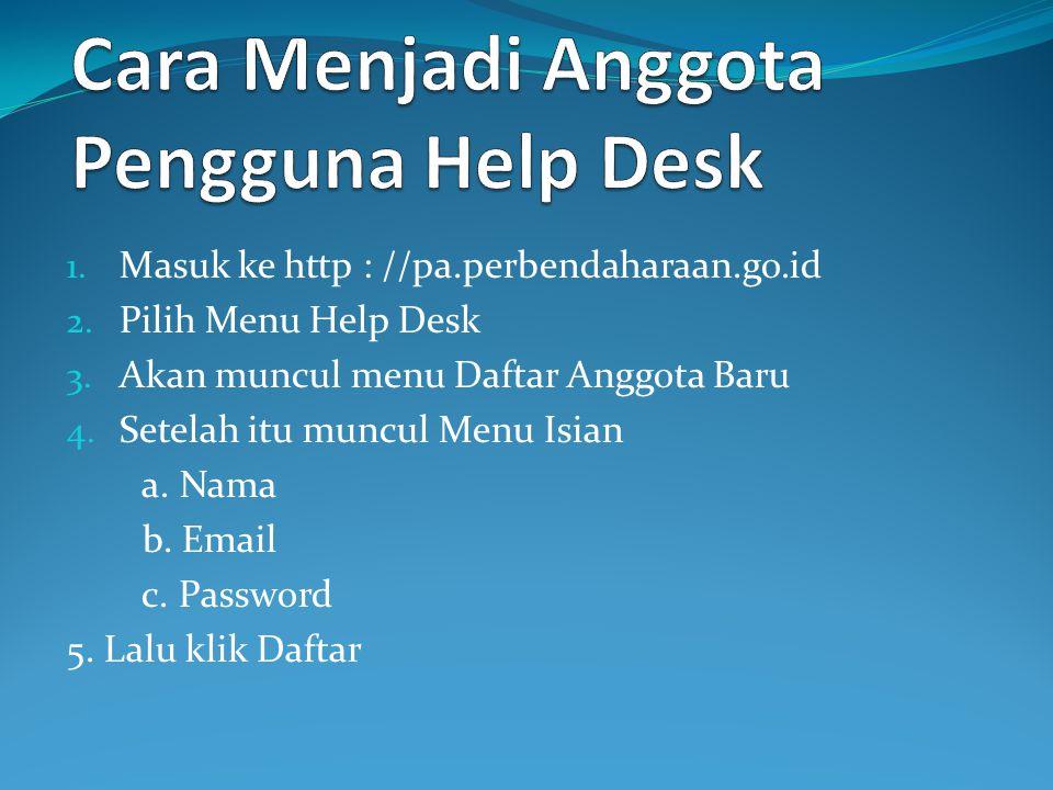 Cara Menjadi Anggota Pengguna Help Desk