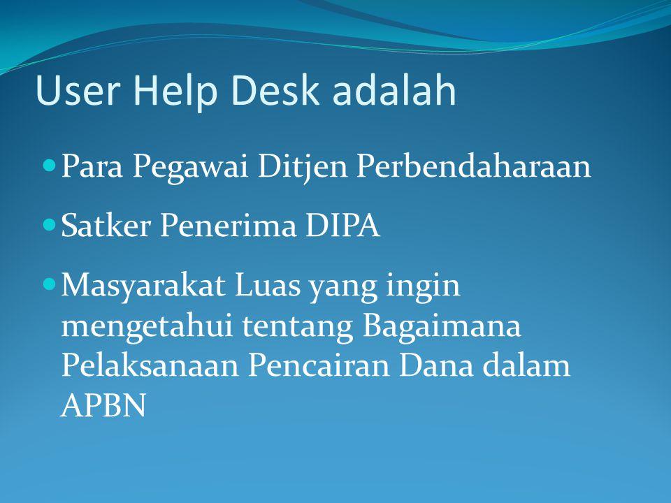 User Help Desk adalah Para Pegawai Ditjen Perbendaharaan