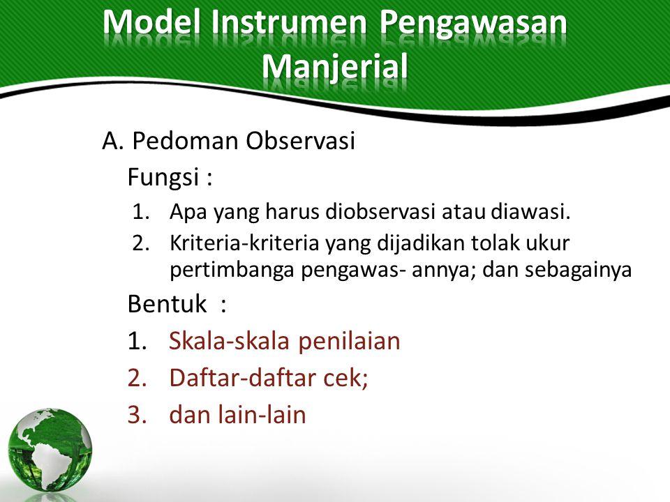 Model Instrumen Pengawasan Manjerial