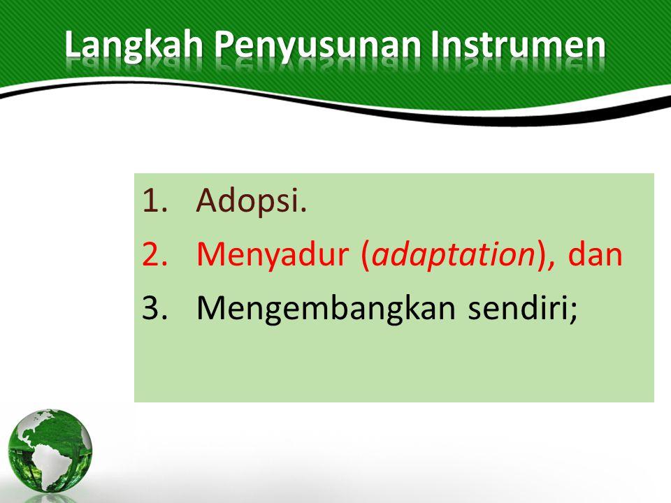 Langkah Penyusunan Instrumen