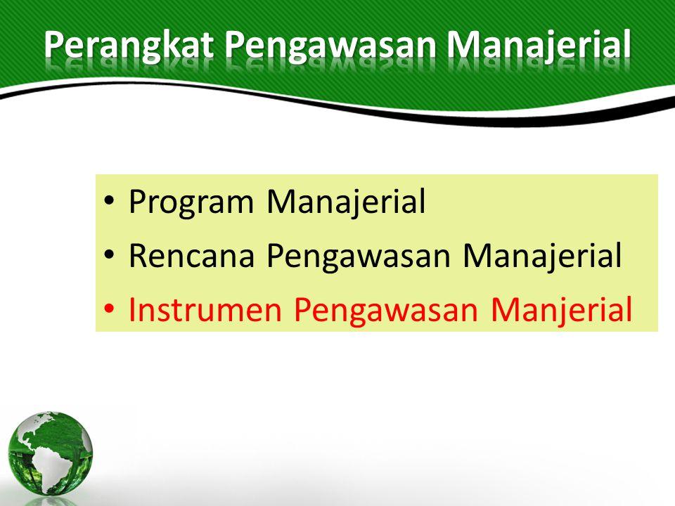 Perangkat Pengawasan Manajerial