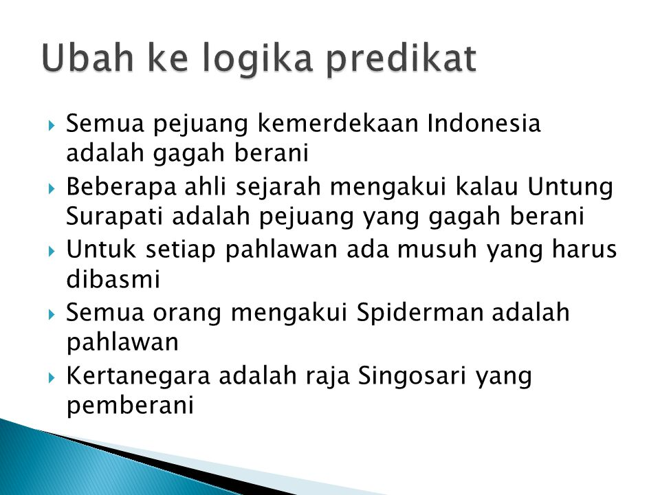 Ubah ke logika predikat