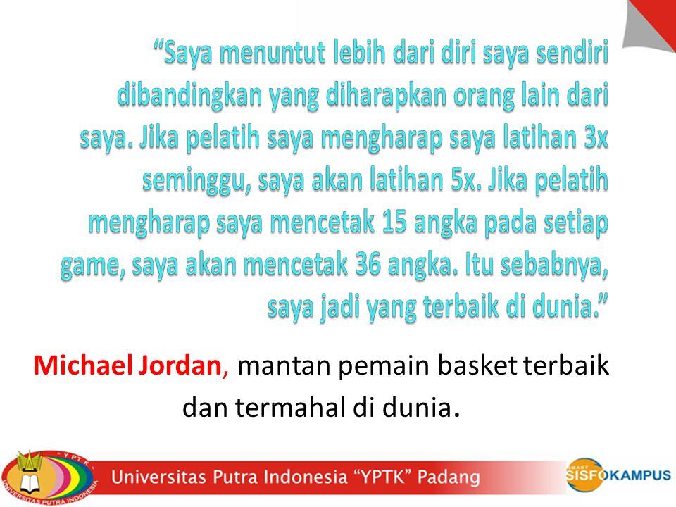 Michael Jordan, mantan pemain basket terbaik dan termahal di dunia.