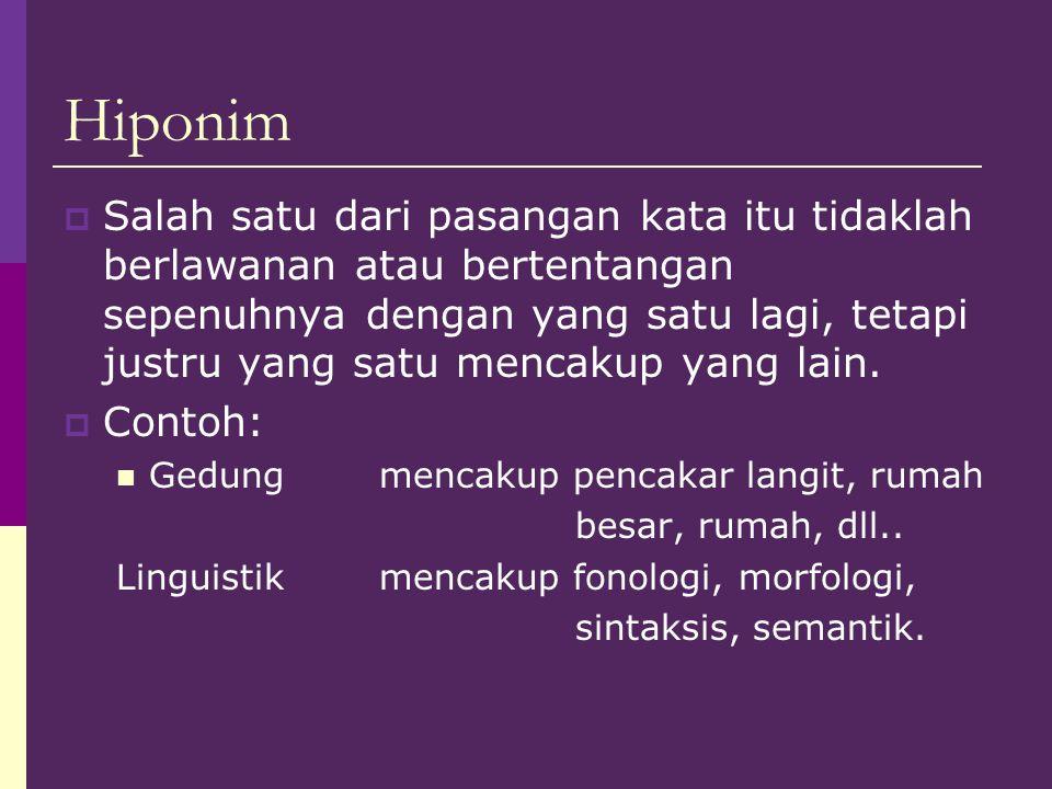 Hiponim