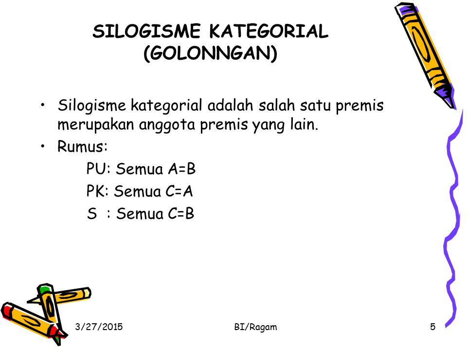 SILOGISME KATEGORIAL (GOLONNGAN)