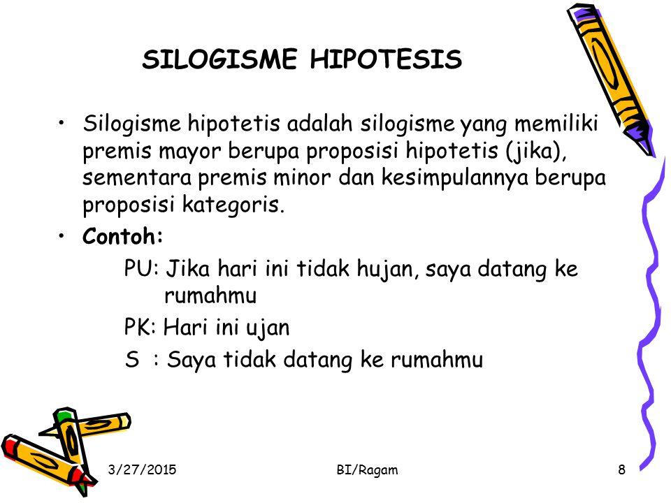 SILOGISME HIPOTESIS