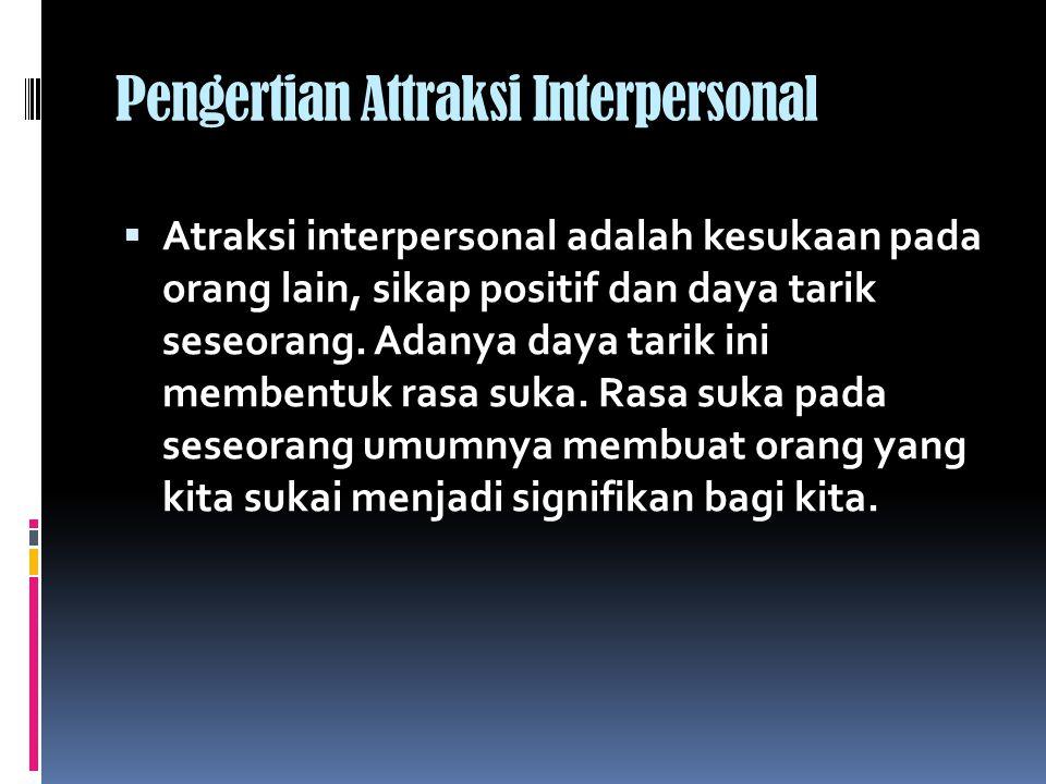 Pengertian Attraksi Interpersonal
