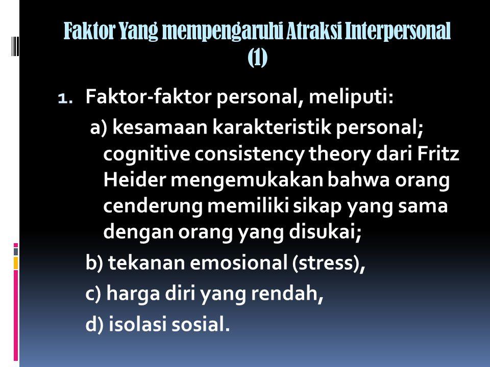 Faktor Yang mempengaruhi Atraksi Interpersonal (1)