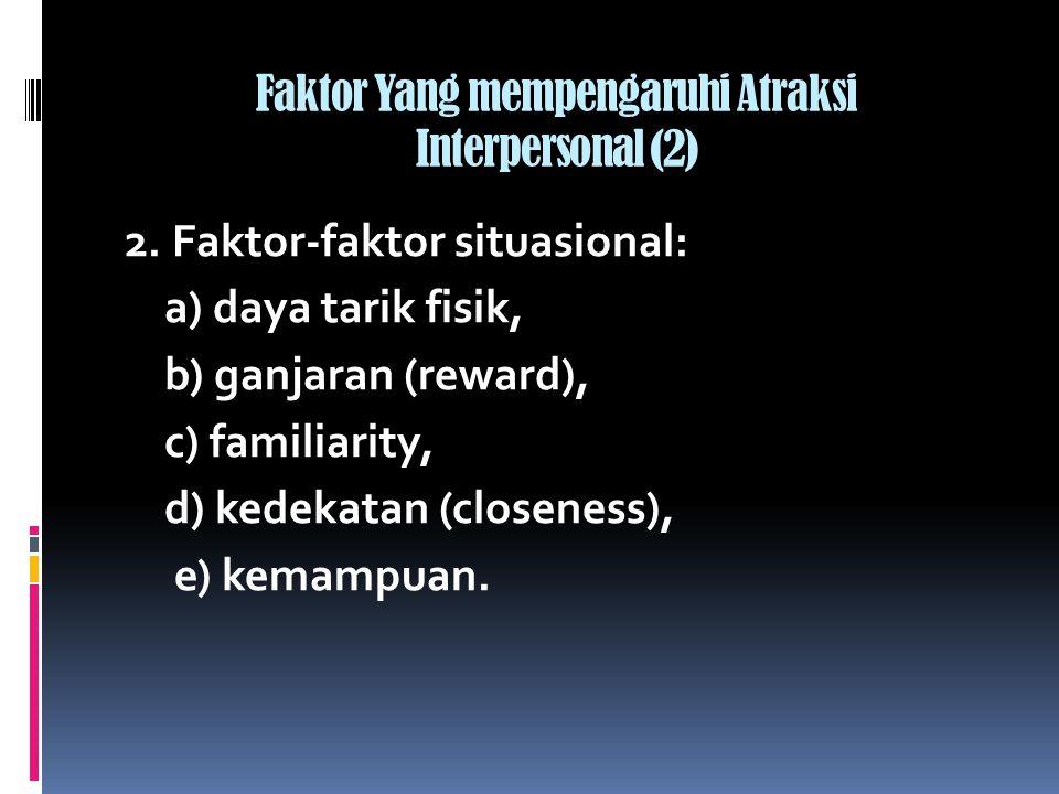 Faktor Yang mempengaruhi Atraksi Interpersonal (2)