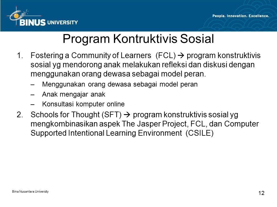 Program Kontruktivis Sosial