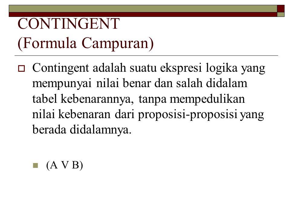 CONTINGENT (Formula Campuran)