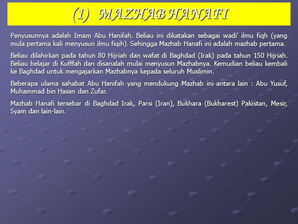 (1) MAZHAB HANAFI