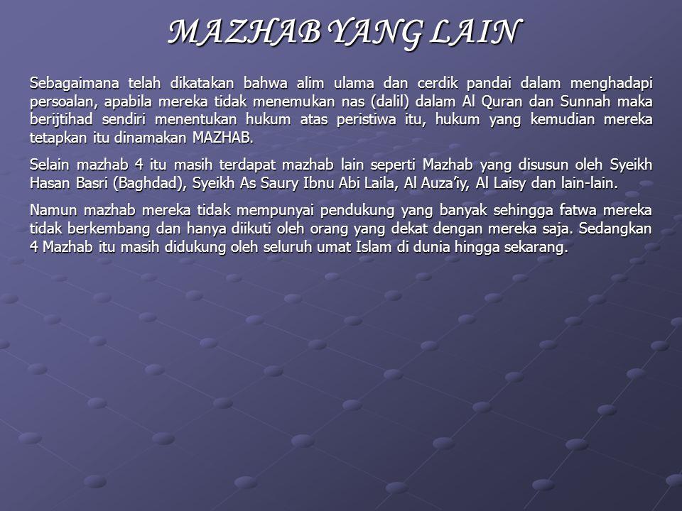 MAZHAB YANG LAIN