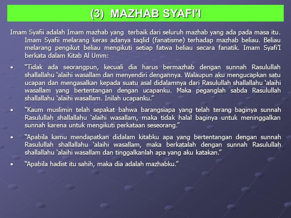 (3) MAZHAB SYAFI'I