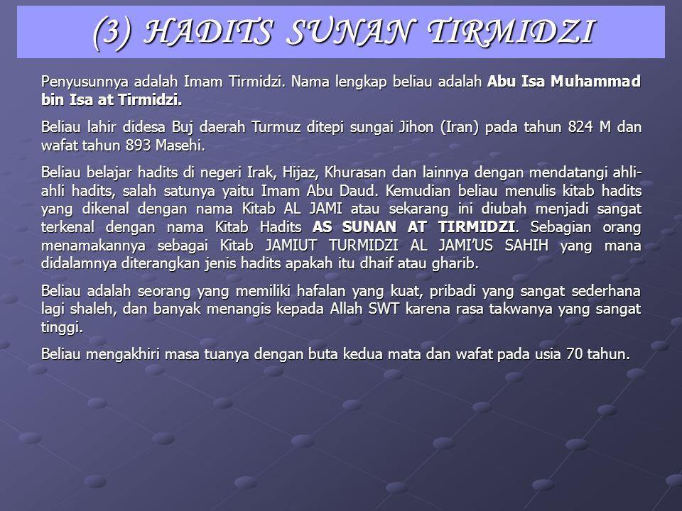 (3) HADITS SUNAN TIRMIDZI