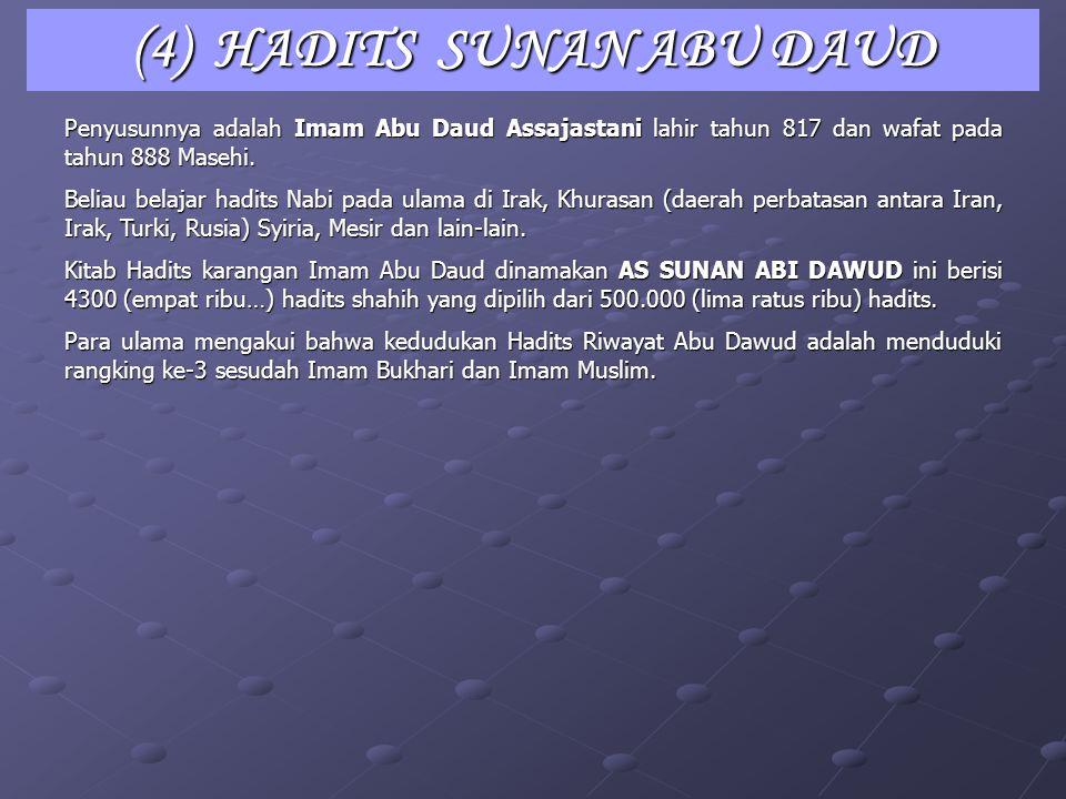 (4) HADITS SUNAN ABU DAUD